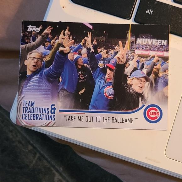 Take me out to the ballgame baseball card